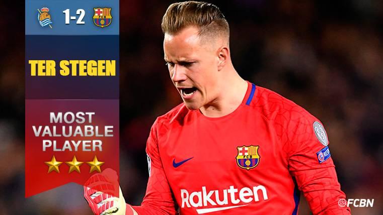 Ter Stegen, insuperable: Sostuvo al Barça antes de remontarle a la Real Sociedad