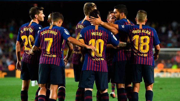 El Barça de Valverde enseña a Europa su temible once de gala