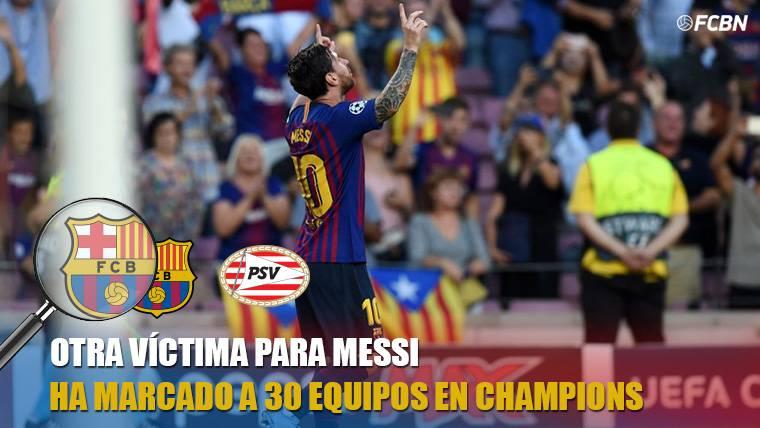 El PSV, la víctima número 30 de Messi en Champions League