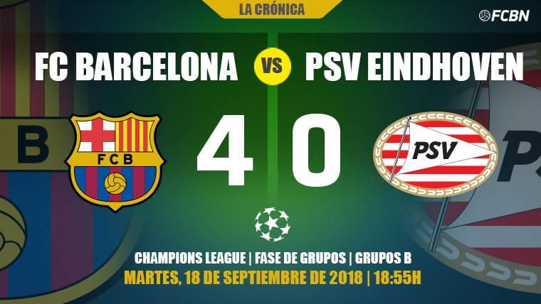 El Barça estrena la Champions con goleada al PSV y recital sublime de Messi (4-0)