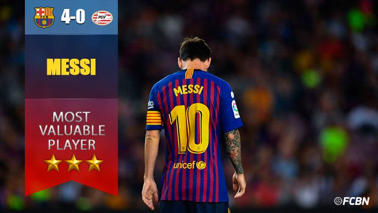 Messi, 'hat trick' ante el PSV para empezar a cumplir su palabra