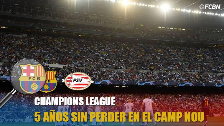 El Camp Nou, un fortín en Champions en los últimos 5 años
