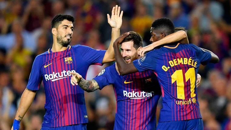 Messi, Suárez y Dembélé llevan 15 goles
