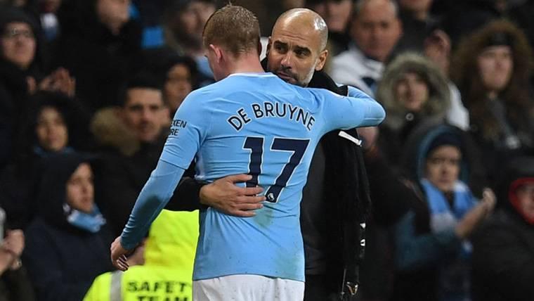 Sorpresa para Guardiola con De Bruyne en el Manchester City