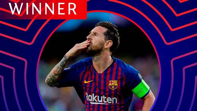 El primer 'Player of the Week' de la Champions es para Messi