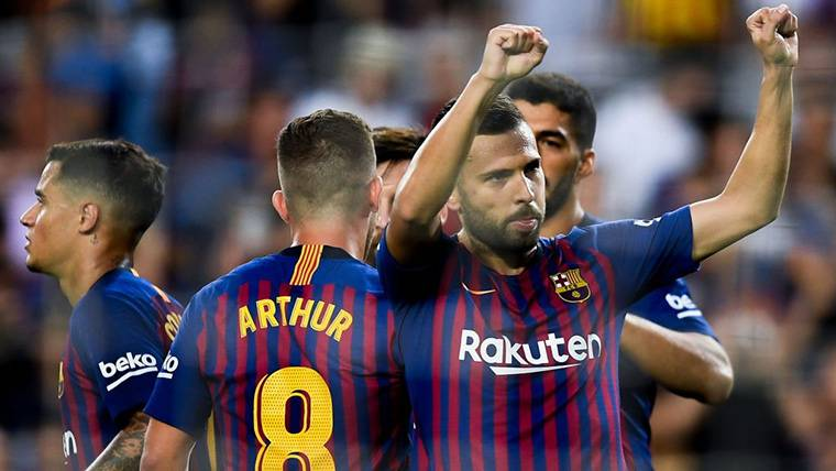 Dilema en el FC Barcelona por el estado físico de Jordi Alba