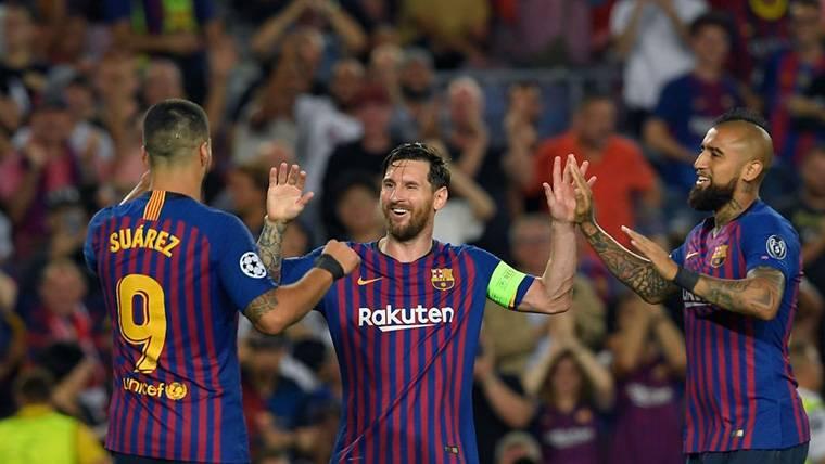 ¡Arturo Vidal asistió a Messi en el primer gol del Barça-Girona!