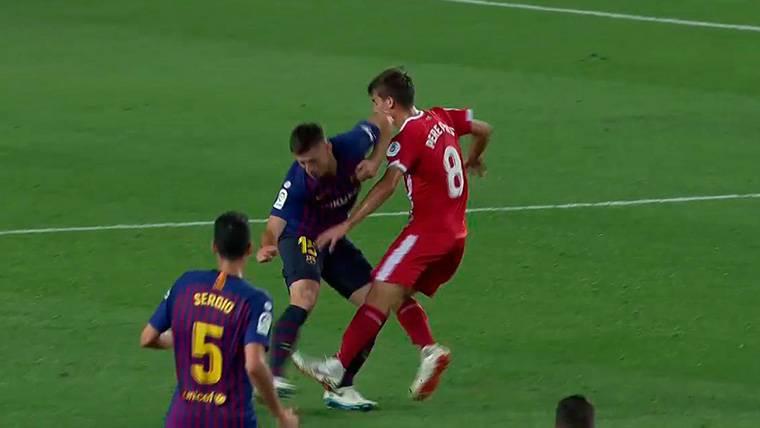 Expulsión más que discutible de Clément Lenglet en el Camp Nou