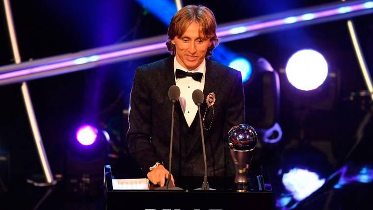 Luka Modric repite y se lleva el FIFA The Best 2018 al Mejor Jugador
