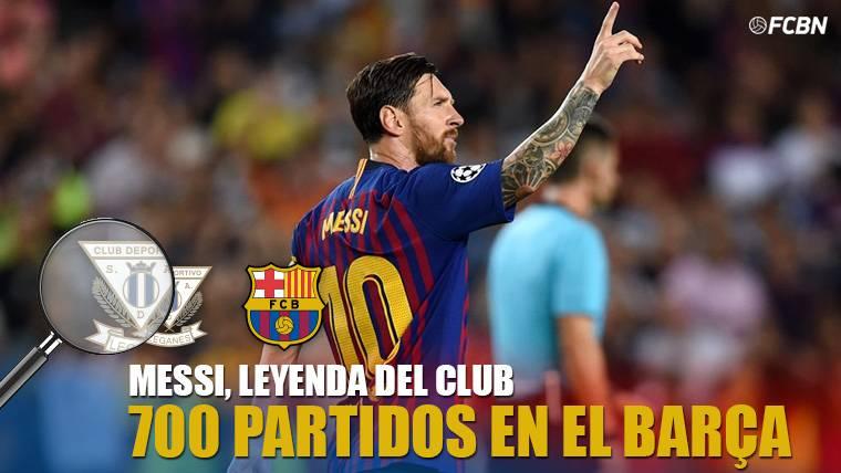 LEYENDA: Messi, 700 partidos con la camiseta del FC Barcelona