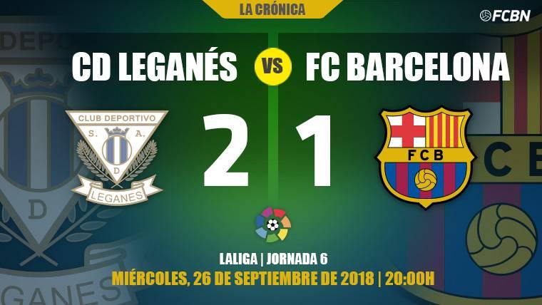 El peor Barça en muchos meses tira el liderato contra el colista en Leganés (2-1)