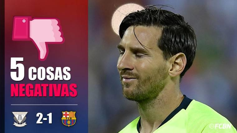 ALARMA: Las cinco cosas negativas del Leganés-FC Barcelona