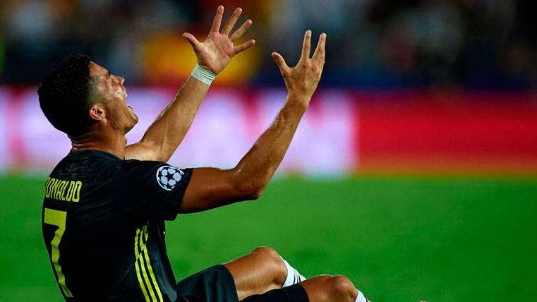 Sancionan a Cristiano Ronaldo con un partido por la roja de Mestalla