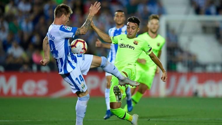 Frenazo al FC Barcelona en la renovación de Munir El Haddadi
