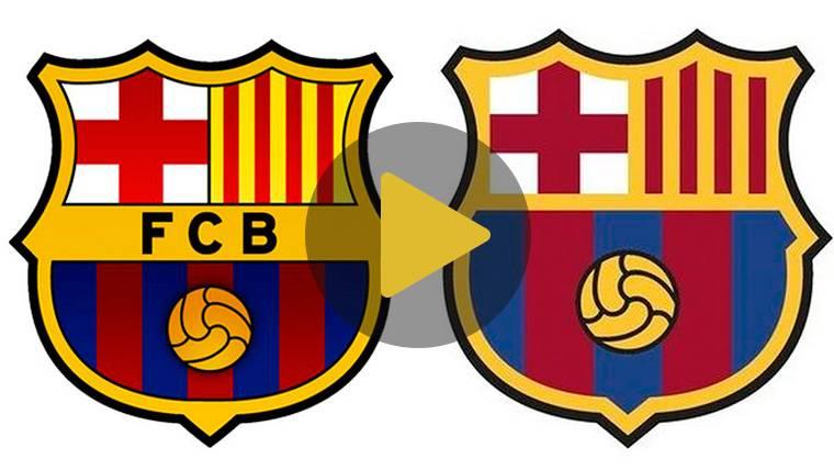 Las 7 diferencias entre el nuevo escudo del Barcelona y el actual