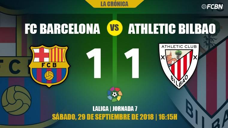 De capa caída: el Barça no pasa del empate ante el Athletic (1-1) y vuelve a 'pinchar' en Liga