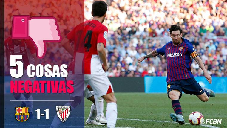 ALARMA: Las cinco cosas negativas del FC Barcelona-Athletic Club