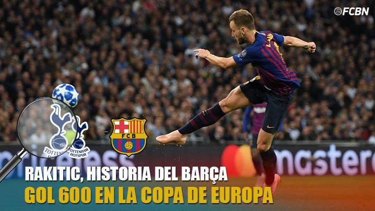 Rakitic marca el gol 600 del FC Barcelona en la Copa de Europa