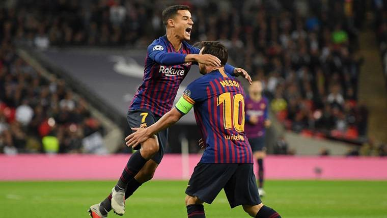 """Coutinho idolatra a Messi: """"Jugar con él es un honor muy grande"""""""