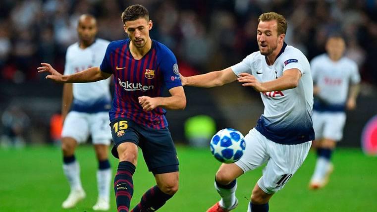 Clément Lenglet hizo un gran partido contra el Tottenham
