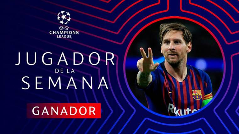 Segundo 'Man of the Week' seguido de Messi en Champions