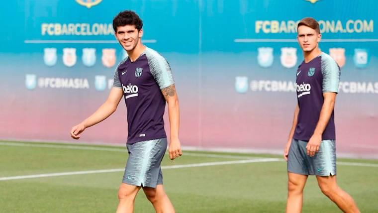 Carles Aleñá no juega con el Barça, pero sigue poniéndose a tono con el filial
