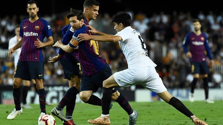 Leo Messi al rescate: ¡Fusiló al Valencia desde fuera del área!