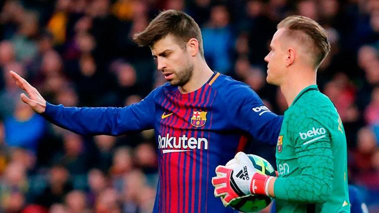 Piqué y Ter Stegen, los únicos 'fijos' de Valverde en el Barça