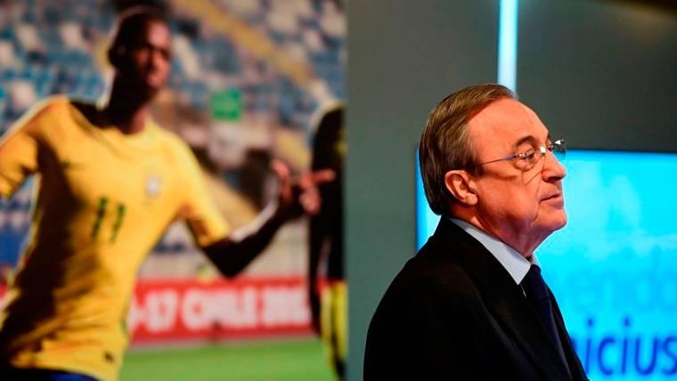 Florentino Pérez en un acto del Real Madrid