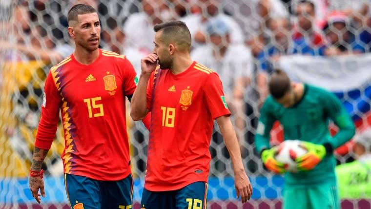 Ramos habla sobre los jugadores del Barça en la selección y abre la puerta a Jordi Alba