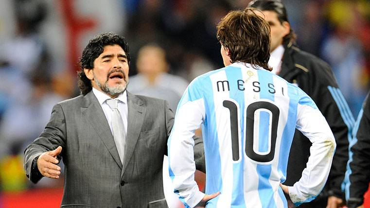 Maradona llamará a Leo Messi para aclarar sus declaraciones
