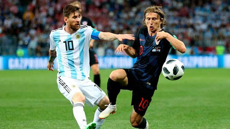 La respuesta de Modric sobre si algún día jugará junto a Messi
