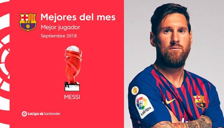 Leo Messi, mejor jugador de LaLiga en el mes de septiembre