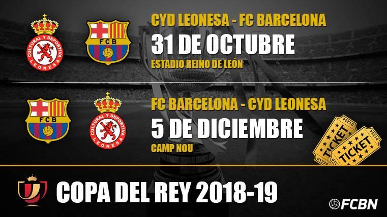 Entradas FC Barcelona vs Cultural Leonesa - Copa del Rey