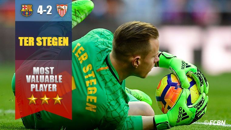 MVP: Ter Stegen salva al Barça ante los 'latigazos' del Sevilla