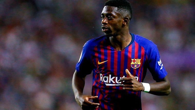 Pitos y toque de atención del Camp Nou para Dembélé