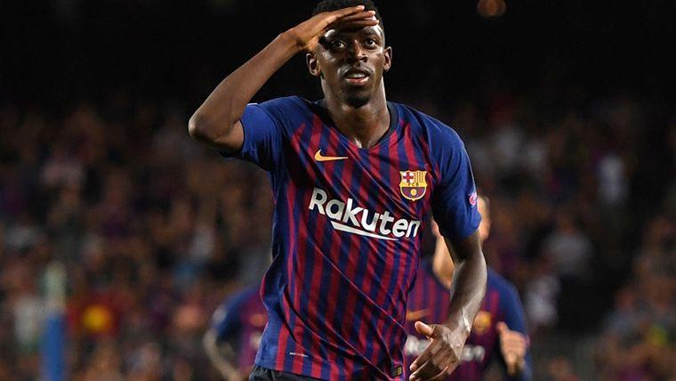 Ousmane Dembélé, celebrando un gol en una imagen de archivo