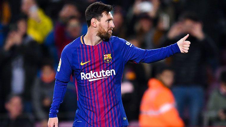 Leo Messi en un partido del FC Barcelona