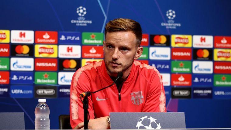 Ivan Rakitic, en rueda de prensa de UEFA Champions League