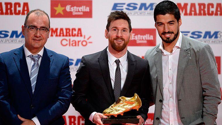 Leo Messi recoge el trofeo a la Bota de Oro