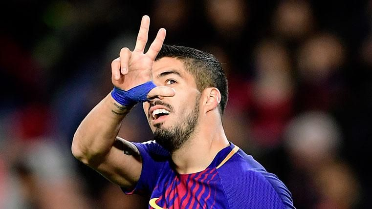 Luis Suárez, feliz en el Barça