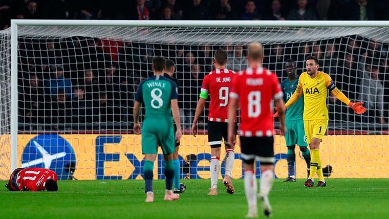PSV y Tottenham empatan y allanan el camino a octavos de Barça e Inter (2-2)