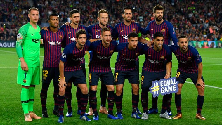 El once del FC Barcelona en el duelo de Champions contra el Inter de Milán