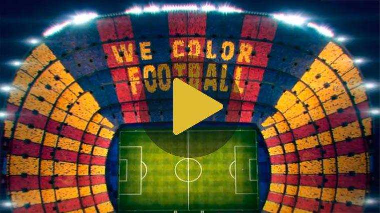 El espectacular mosaico que prepara el Camp Nou para el Clásico Barça-Madrid