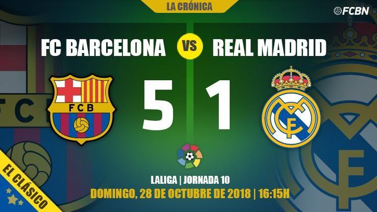 El Barça no echa de menos a Leo Messi y liquida al Real Madrid en el Clásico (5-1)