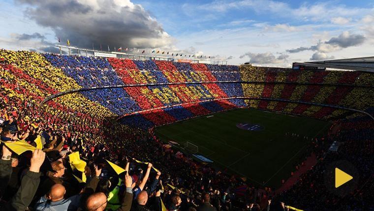 El Camp Nou, lleno a rebosar contra el Real Madrid en el Clásico