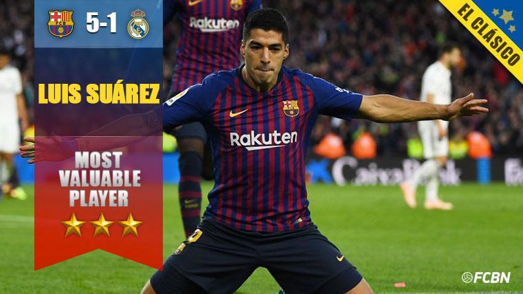 Luis Suárez 'hizo de Messi' y fue el mejor del Barça en el Clásico
