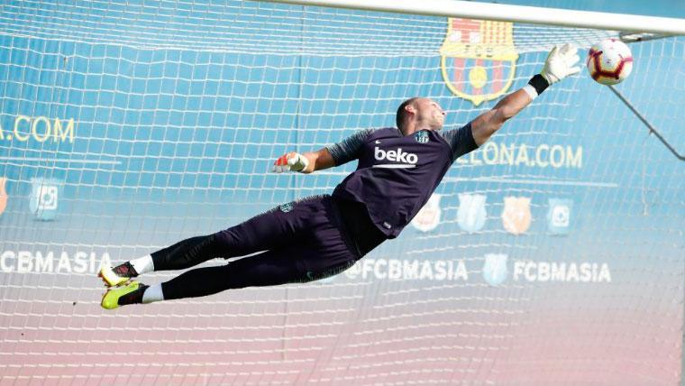 Jasper Cillessen, primera duda del Barça para la Copa del Rey