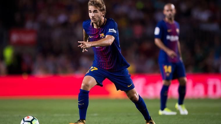 Sergi Samper, durante un partido con el FC Barcelona en una imagen de archivo