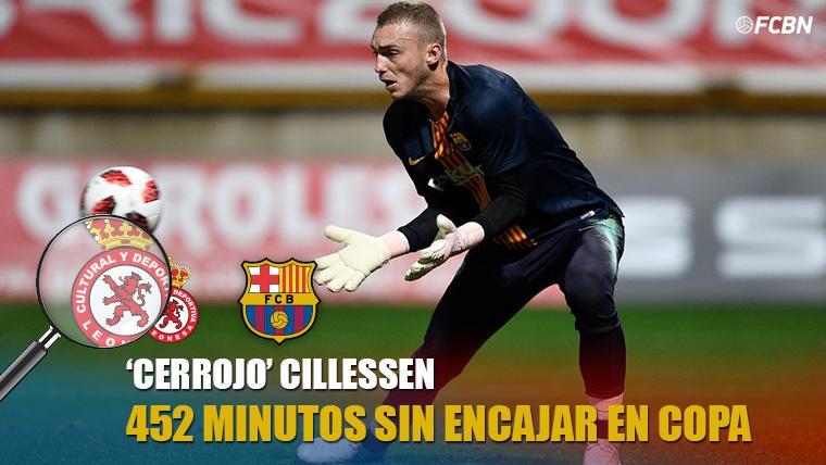 Cillessen, un porterazo: 452 minutos seguidos sin encajar goles en Copa del Rey